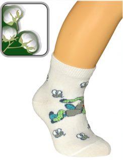 Детские носки из хлопка. Компьютерный рисунок.