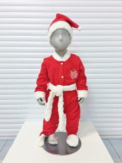 Комбинезон Дед Мороз + шапка Красный