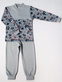 """Пижама для мальчика """" Формула 1 серый"""""""