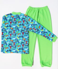 """Пижама для мальчика """" Ящерка салатовый"""""""