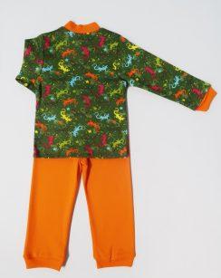 """Пижама на мальчика """" Ящерка оранжевый"""""""
