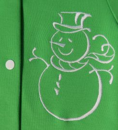 Комплект Снеговик зеленый