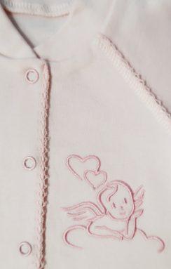 Комплект (Комбинезон+шапочка) Розовый