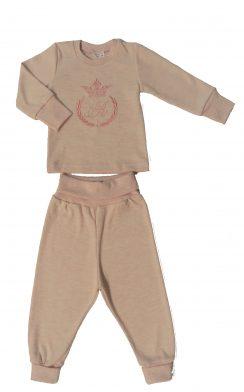 Комплект (штанишки+кофточка на 2х кн) Коллекция корона Розовый меланж