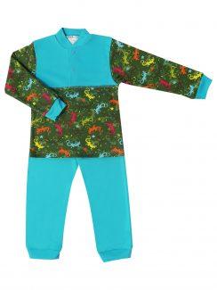 "Пижама для мальчика "" Ящерка бирюза"""
