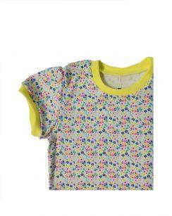 Комплект для девочки (футболка+юбка) Желтый