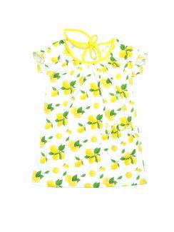 Платье-туника Белый желтый