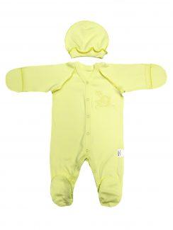 Комплект (Комбинезон + шапочка) Желтый