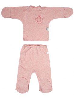 Комплект (Ползунки низ. + распашонка) Розовый меланж
