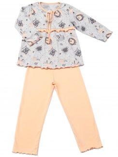 Пижама на кокетке Серый,Розовый
